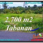 Beautiful 2,700 m2 LAND SALE IN TABANAN BALI TJTB301
