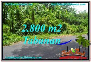 Exotic PROPERTY 2,800 m2 LAND FOR SALE IN Tabanan Kerambitan TJTB300