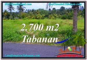Exotic PROPERTY 2,700 m2 LAND FOR SALE IN Tabanan Kerambitan TJTB301
