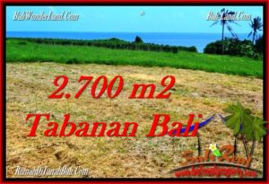 Exotic 2,700 m2 LAND SALE IN TABANAN BALI TJTB286