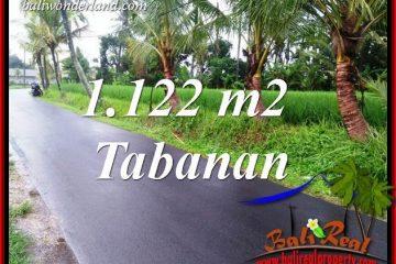 Affordable 1,122 m2 Land in Tabanan Bali for sale TJTB404